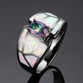 Дамски пръстени с опал и кристали-Пръстени